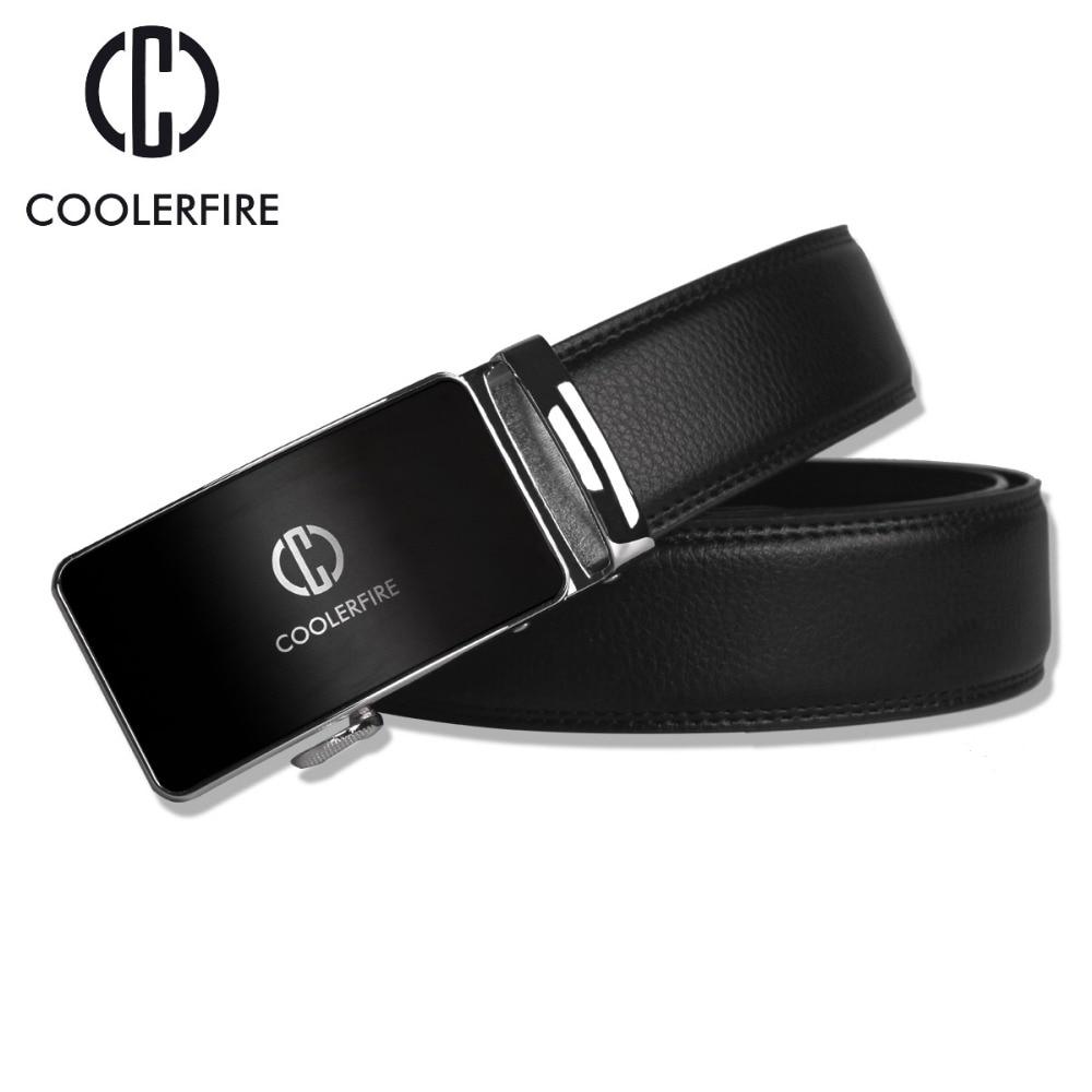 Designer Fashion Men Belts Luxury Automatic Buckle Cowskin Genuine Leather Belt for Men Business Black Waist Male Strap ZD051 in Men 39 s Belts from Apparel Accessories