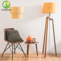 OYGROUP E27 Yellow Drum Pendant Lamp PVC Iron Frame Double Layer Lampshade for Parlor, Study, Bedrooms, Hotel Decor