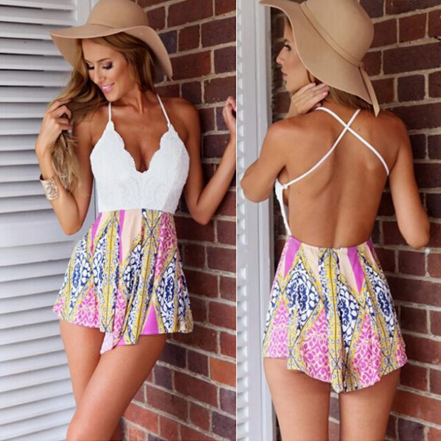 Hot Selling Sexy V Neck Backless Cross Mini Dress Summer ...