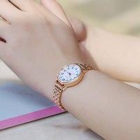 KIMIO Brand Women Quartz Watches Dress Analog Watches Fashion Bracelet Watches Gold Alloy Case Wristwatch Hot