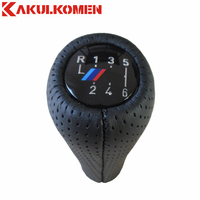 5 6 Speed Real Leather Gear Shift Knob With M Logo For BMW 1 3 5
