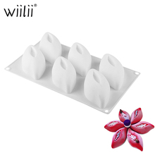DIY Silicone Bean Pod Mold For Mousse Dessert Pastries Mould 6 Cavity Cake Decorating Tools Chocolate Jelly Candy Baking Mold лайнер для глаз cotton candy acc05 jelly bean