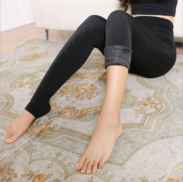 Women's Clothing Candy Colors Women Pants Plus Velvet Thick Warm Leggings Ladies Pants For Winter Super Elastic Women Leggings