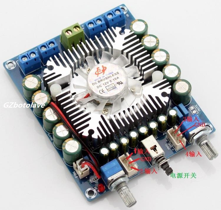 TDA7850 4.0 Channel mini car amplifier digital 50w*4 12v audio amplifier board