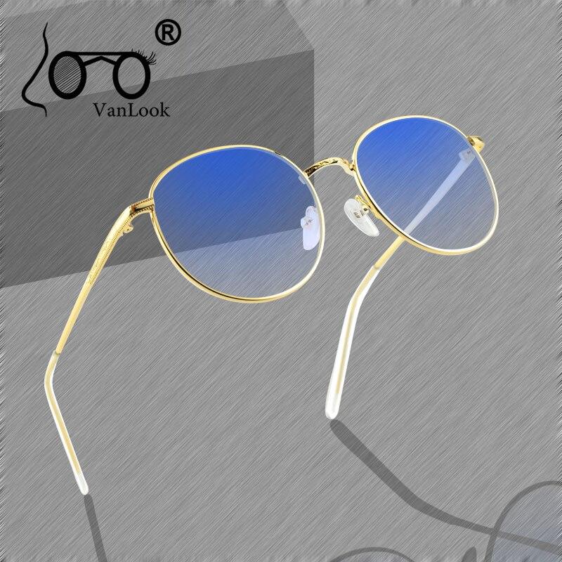 Round Computer Glasses Transparent For Women Men Blue Light Blocking Eyeglasses Spectacle Frame Kacamata Anti Radiasi Blue Ray