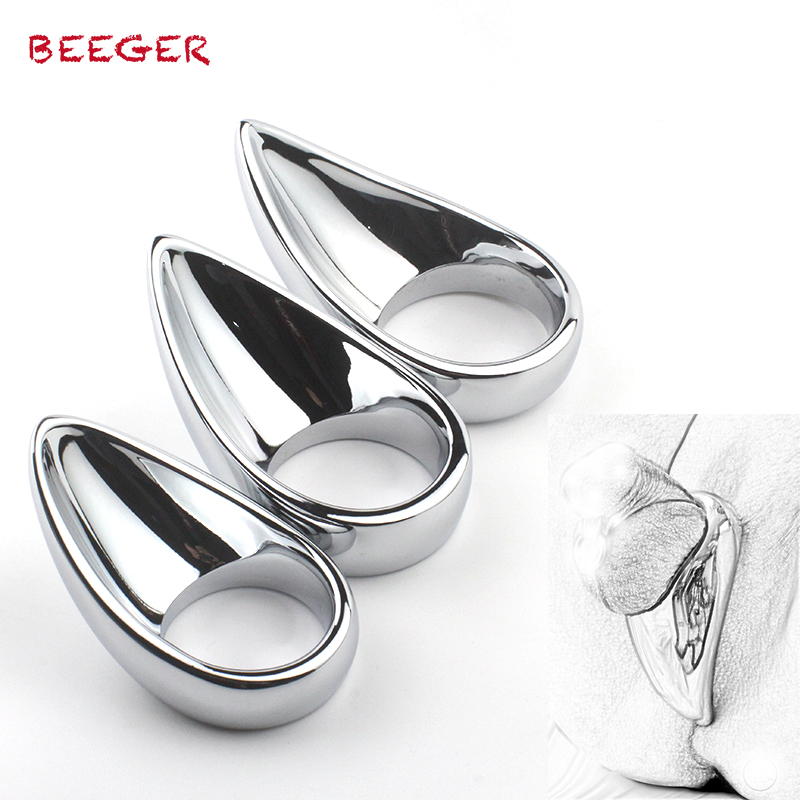 BEEGER Taint Licker Cock Ring - unique shape for extra stimulation,metal penis rings BEEGER Taint Licker Cock Ring - unique shape for extra stimulation,metal penis rings