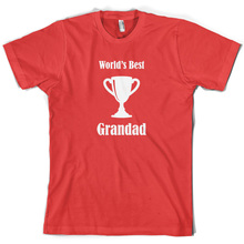 Worlds Best Grandad - Mens T-Shirt 10 Colours Fathers Day Funny Present Short Sleeves O-Neck T Shirt Tops Tshirt Homme