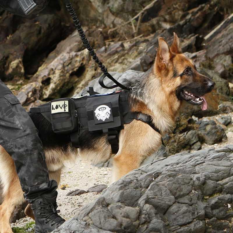 سترات الكلب التكتيكية العسكرية الكلب الملابس التدريب تحمل الحمل تسخير SWAT الكلب التدريب الإنقاذ سترة مولي تسخير