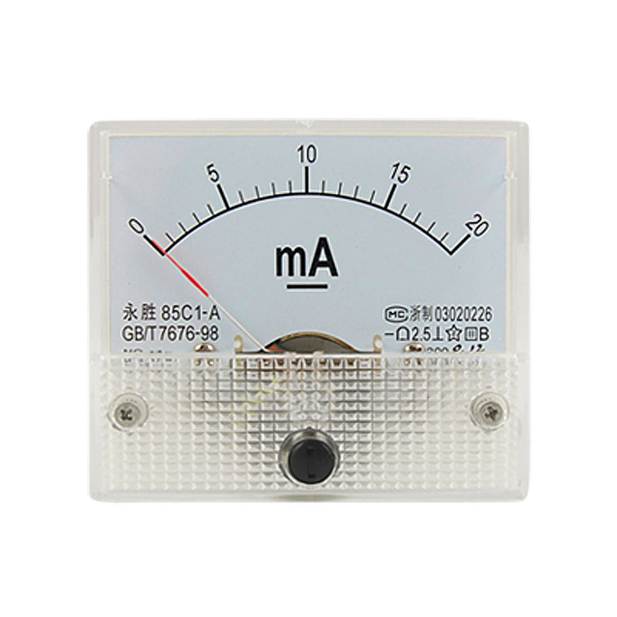 1PC DC 200A Analog Ammeter Panel AMP Current Meter 85C1 0-200A DC with Shunt