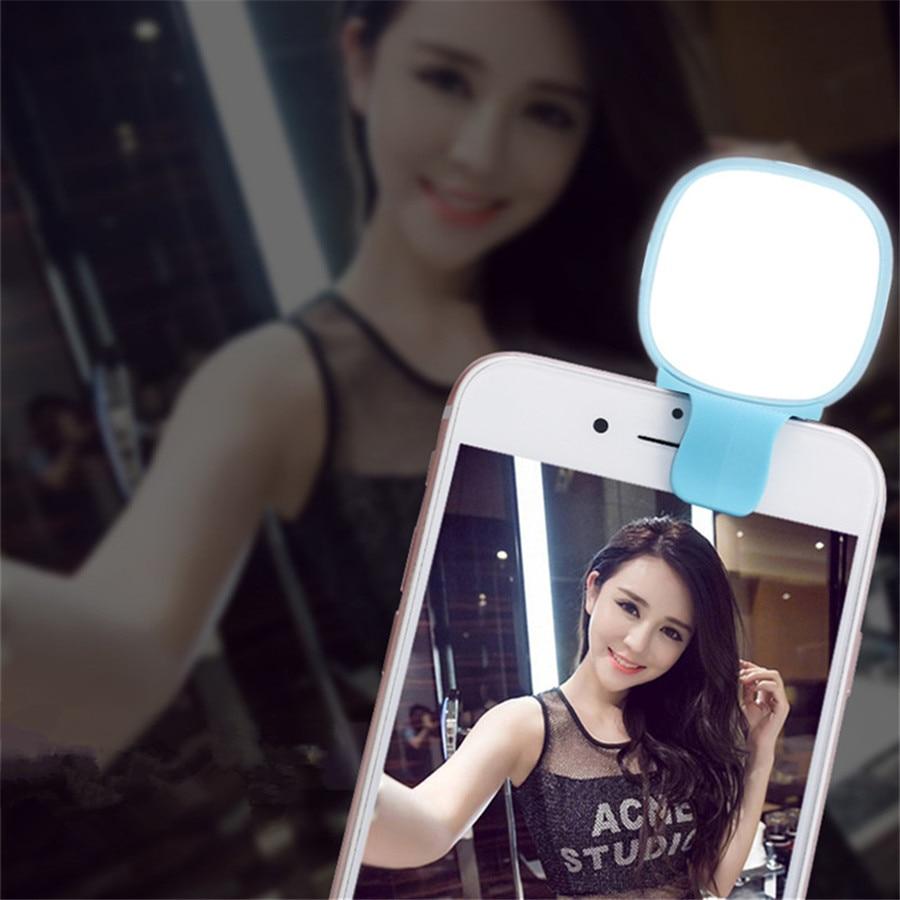 Rechargeable USB Charge avec batterie de charge Selfie Portable LED Anneau Remplir Lumière Caméra pour iPhone7plues 6 5S 4 Android Samsung
