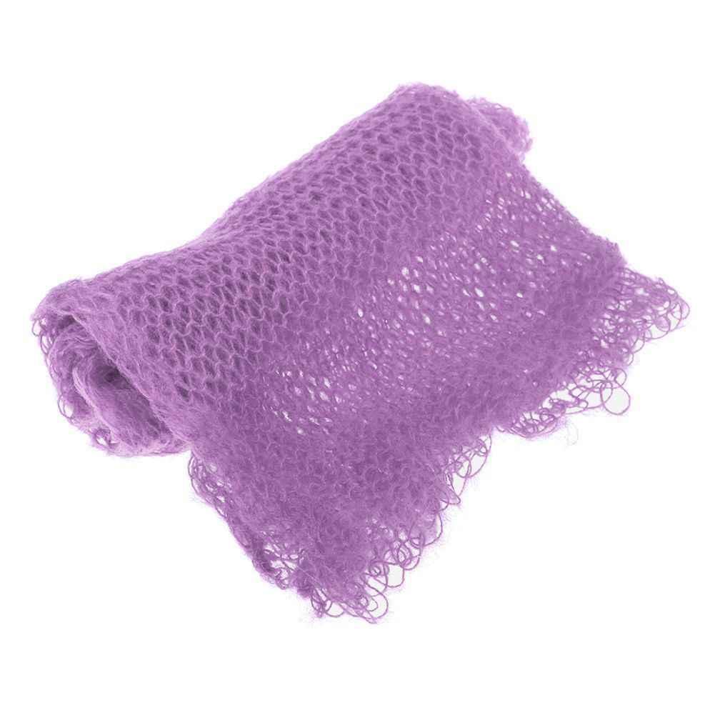 Bebê recém-nascido infantil envoltório malha toalha fotografia adereços envoltórios foto pano macio cobertor
