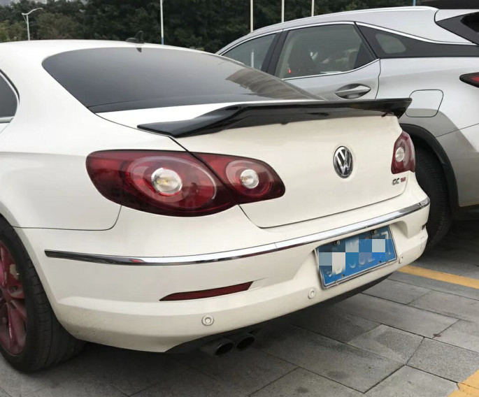 for  Volkswagen CC spoiler R style 2009 to 2017 rear trunk wing spoiler by primer paint or black white color for CC spoilerfor  Volkswagen CC spoiler R style 2009 to 2017 rear trunk wing spoiler by primer paint or black white color for CC spoiler