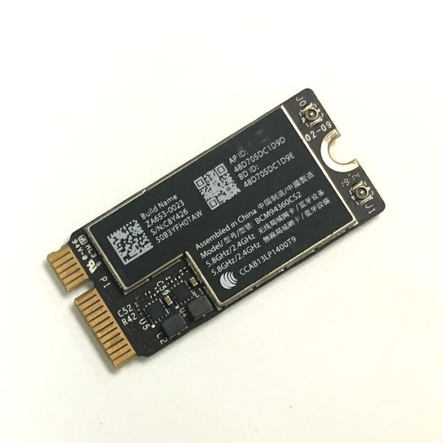 """Novo bcm94360cs2 sem fio ac wifi bluetooth bt 4.0 aeroporto 802.11ac cartão para macbook air 11 """"a1465 13"""" a1466 2013 md711ll/a md760"""