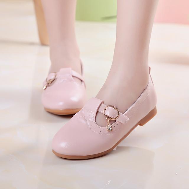 Sapatos Da Menina das crianças Das Crianças de Primavera E Outono Meninas Princesa Sapatos de Couro de Pele Brilhante Sapatos de Dança Do Partido 110