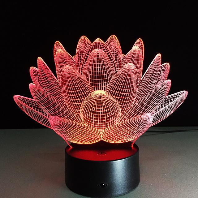 Flor de Lótus romântico Night light Color Changing Lotus Flower LED Night Light Romantic Love Humor Lâmpada Decoração Frete Grátis