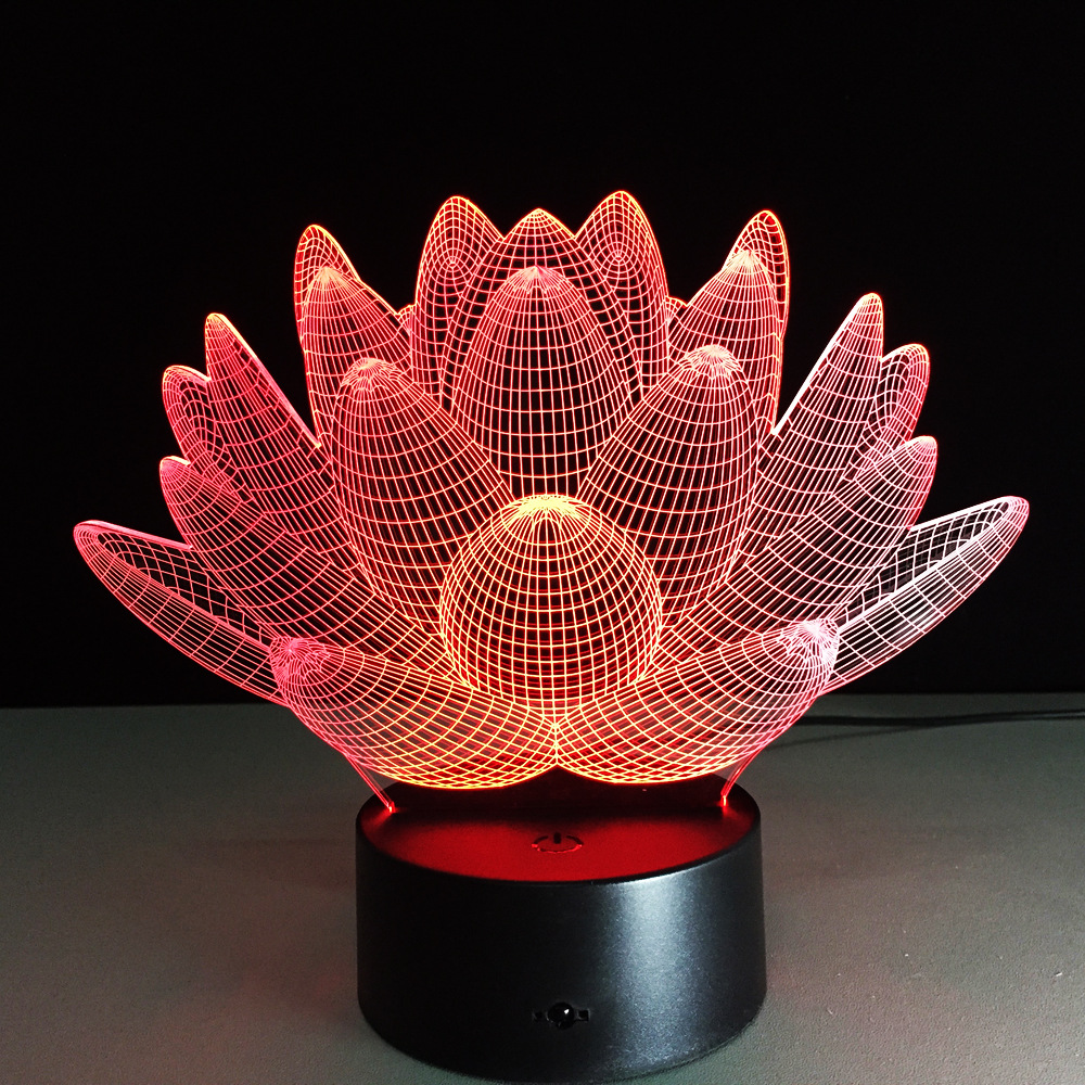 Romantic Lotus Flower Night Light Color Changing Lotus Flower Led
