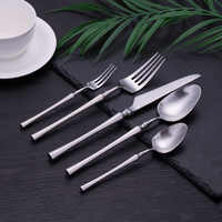 30Pcs/set Silver Dinnerware Set 18/10 Stainless Steel Western Cutlery Kitchen Food Tableware Dinner Set Spoons Forks and Knives