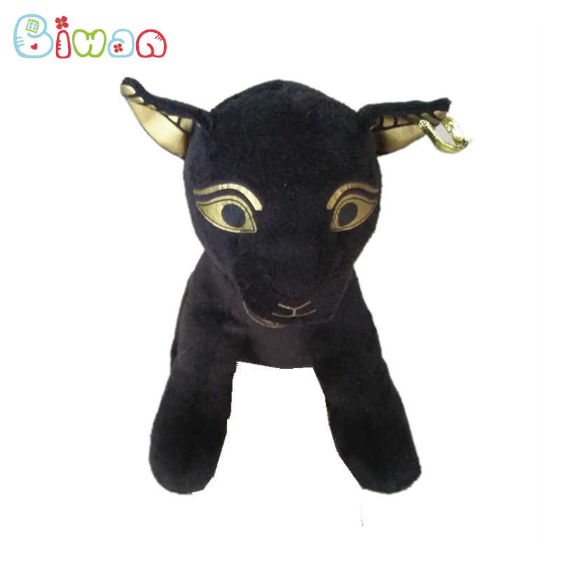 Biwan Farcito Gatto Nero 22 centimetri Giocattoli di Peluche Sveglia Molle Dorato stampato Animali di Peluche Con Fagioli nel Corpo Per Bambini regali di compleanno