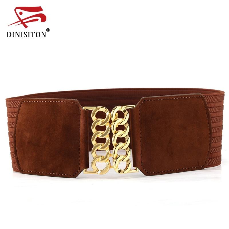 DINISITON Cummerbunds For Women High Quality Strap Elastic Belt Plus Size Vintage Wide Belts Waistband Female Accessories XYYF02