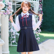 Spring Japanese School students Girl Uniform Naval College Style Sailor Uniforms Suit Korea Girls Student Sets