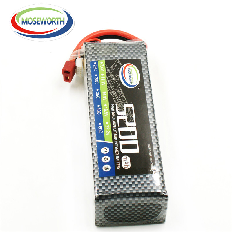 MOSEWORTH RC lipo Battery 2S 7.4V 5200mAh T/XT60 60C lipo batteria for RC modlel Aircraft Helicopter Quadcopter RC Drone Cell 1s 2s 3s 4s 5s 6s 7s 8s lipo battery balance connector for rc model battery esc