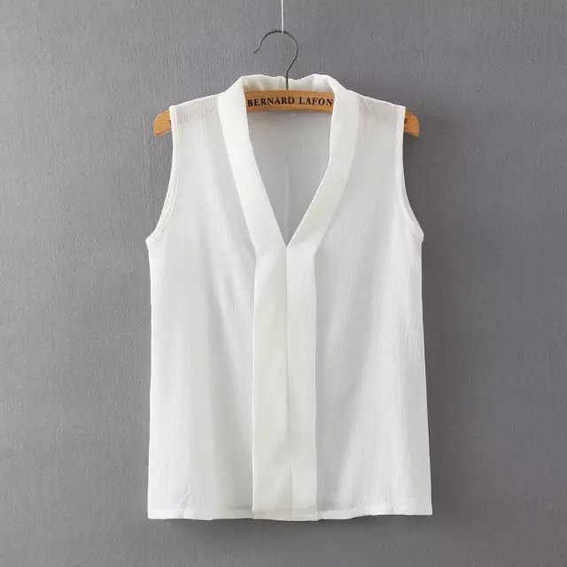 แฟชั่นสไตล์เกาหลีผู้หญิงเสื้อชีฟองสุภาพสตรีเสื้อแขนกุดผู้หญิงสีขาวเสื้อ Blusas Femininas พลัสขนาดเสื้อผ้าผู้หญิง