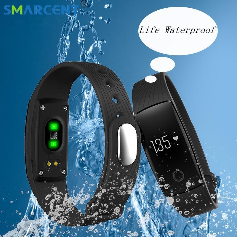ID107 V05C Smart Bluetooth Smartband Bracelet Moniteur de Fréquence Cardiaque Fitness Bracelet pour Android iOS Bracelets bande Horloge