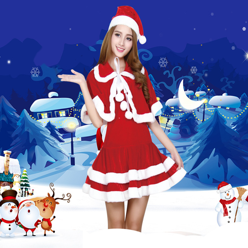 New Christmas Costumes Christmas Santa Claus Cosplay Costumes Christmas Party Women Costumes
