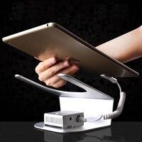 Ipad supporto dell'esposizione di sicurezza tablet holder allarme per montaggio rack di dispositivi antifurto per negozio di vendita al dettaglio con carica e allarme funtion