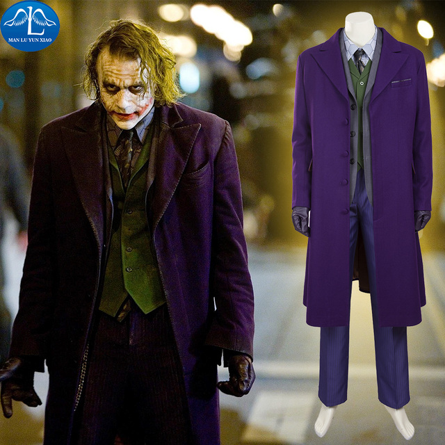 manluyunxiao batman kostum die dark knight joker kostum joker anzug halloween cosplay kostum fur manner volle