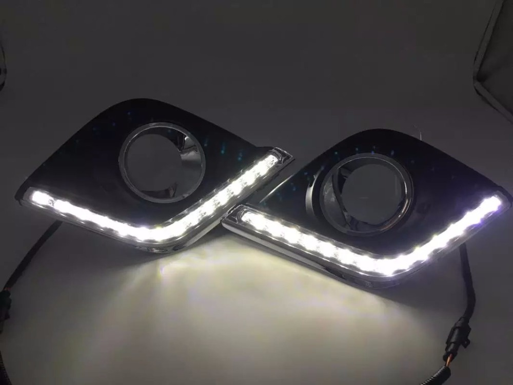 Osmrk Сид DRL дневного света для Toyota Hilux Виго рево 2015-16, с желтый сигнал поворота, верхнего качества, переключатель беспроводной связи