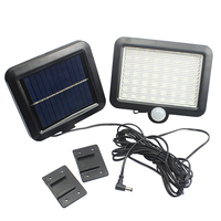 180LM 56pcs 2835SMD White LED Solar Power Motion Sensor Detection Waterproof Outdoor Garden Lawn Lights Security