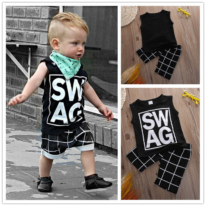 89024ccb8 2016 Newborn Toddler Baby Boys Girls Clothes Summer Vest Top + Pants ...