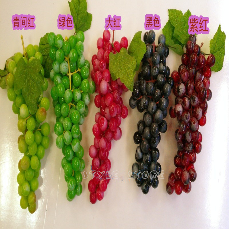 Fruit fake vegetables kitchen cabinet accessories grapes 90 circle grape