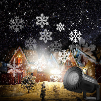 Christmas Laser Snowflake Projector Moving Snow New Year Decoration Stage Lighting Effect Lamp Disco Party SpotLight