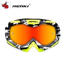 NENKI Motocross Goggles Motorcycle Racing Eyewear Skiing Snowboard Glasses Colorful Lens Unisex DH MTB Glasses Single