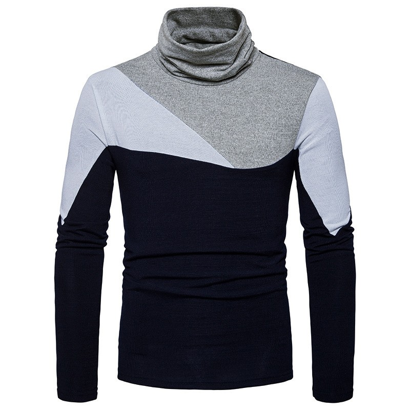New Casual Turtleneck Sweater Men 39 s Knitted Pullovers 2018 Autumn Fashion Sweater Slim Fit Knitwear Long Sleeve Cotton Clothes in Pullovers from Men 39 s Clothing