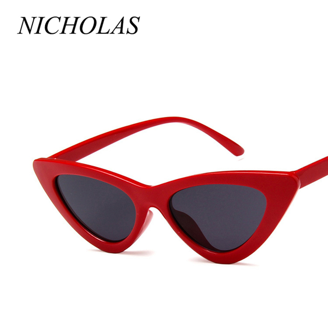 79aa24e0d NICHOLAS Retro Cat Eye Sunglasses Women Small Frame Triangle Sun glasses  Women Eyewear Oculos De Sol Feminino Lunette Soleil