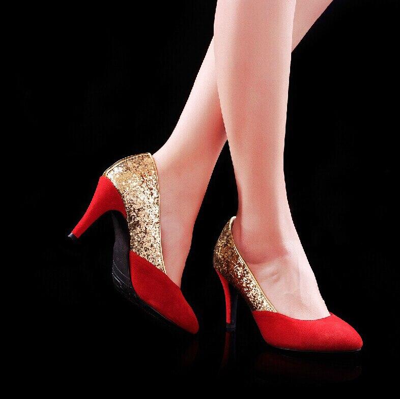 ФОТО New Wedding Dress Shoes Women High Heels Rhinestone Shoes Party Prom Dress