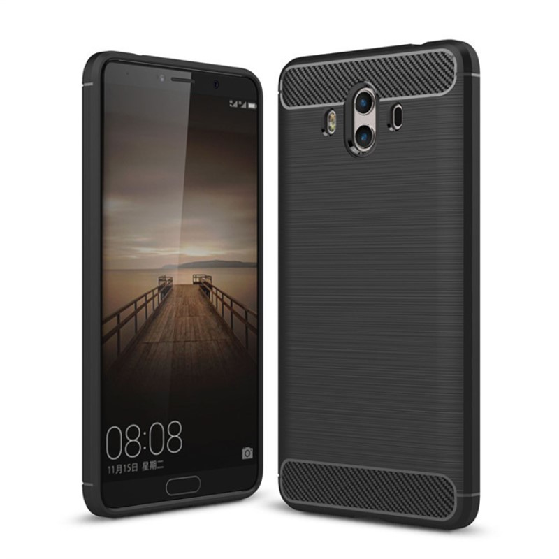 Carbon Fiber Phone Cases For Huawei Mate 8 9 Cases Soft Anti-Knock Cover For Huawei Mate10 Mate 10 Pro Coque Rated