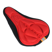 Hot Cycling Bike 3D Silicone Gel Pad Seat Saddle Cover Comfortable Soft Cushion Bicycle Saddle Bicycle Parts Accessories B2