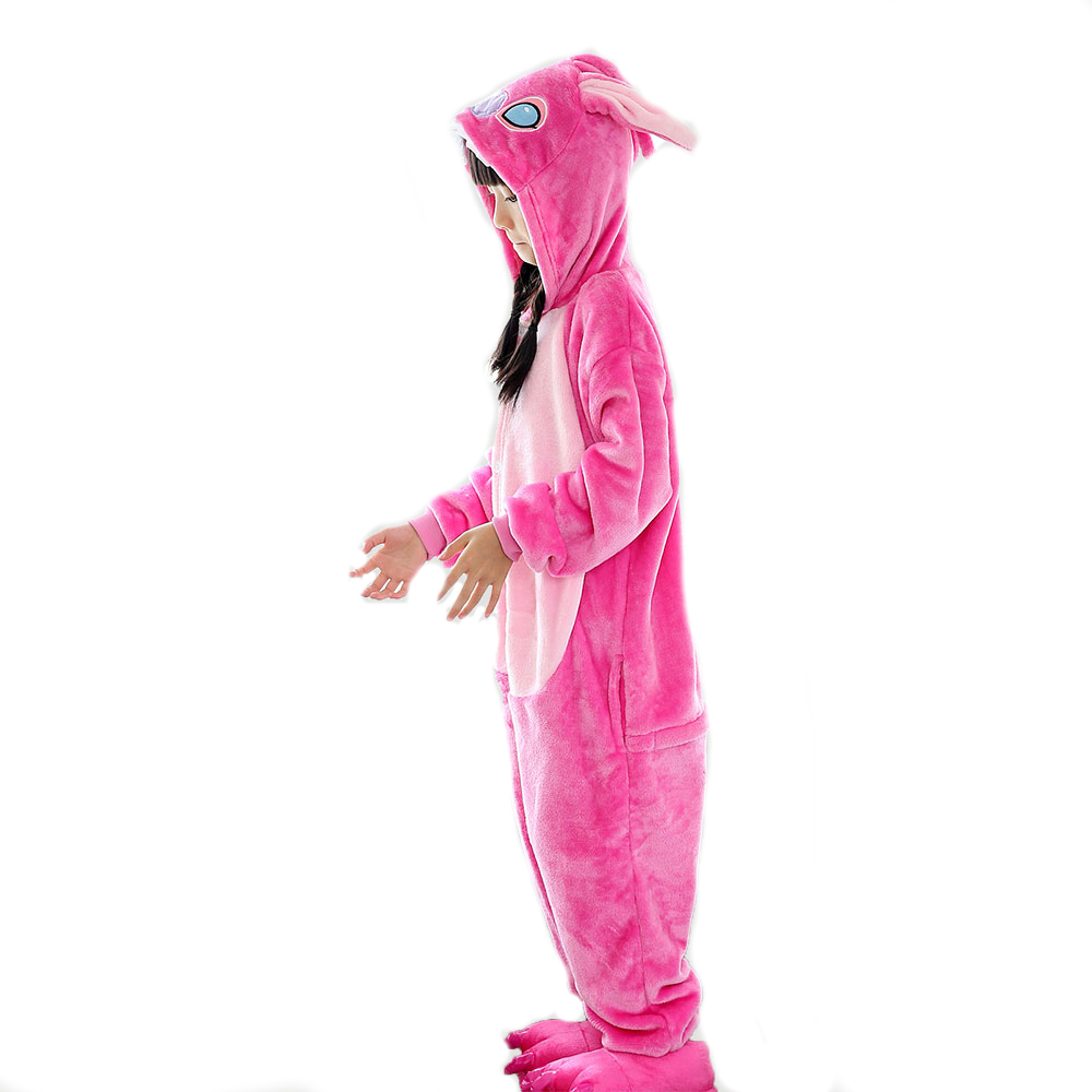 kawaii anime children's onesie pajamas cosplay halloween pink blue