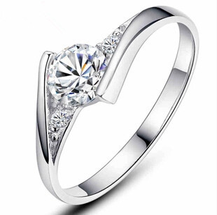 2016 hot sell super shiny cz diamond 30 percent silver plated ladiesfinger wedding - Where To Sell Wedding Ring