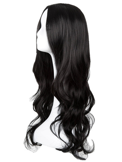 Synthetic None-lacewigs Synthetic Wigs Nice Black Wig Fei-show Synthetic Heat Resistant Long Curly Middle Part Line Hair Costume Cos-play Halloween Carnival Party Hairpiece