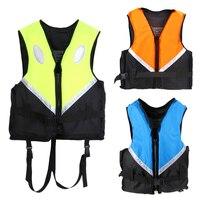 Professional Life Vest Adult Size Universal Polyester Foam Flotation Swimming Safety Boating Survival Life Vest Life