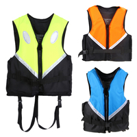 Professional Life Vest Adult Size Universal Polyester Foam Flotation Swimming Safety Boating Survival Life Vest Life
