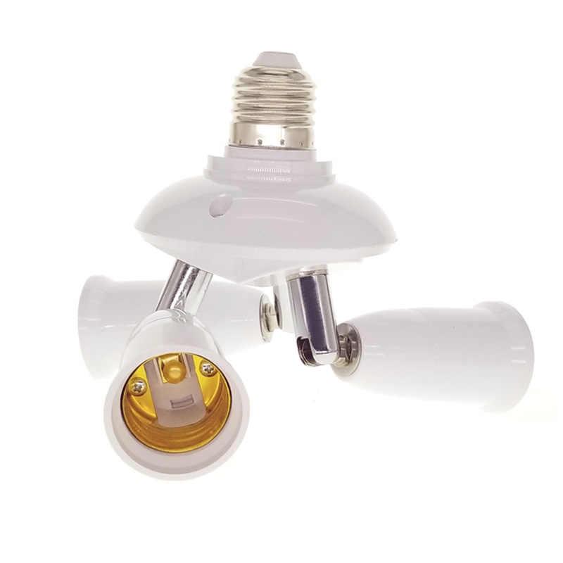 1 до 1/3/4/5 светильник регулируемый конвертеры держатель E27 для E27 гнездо Разделение ter светодиодный светильник ing лампа Разделение адаптер лампы Основание держателей