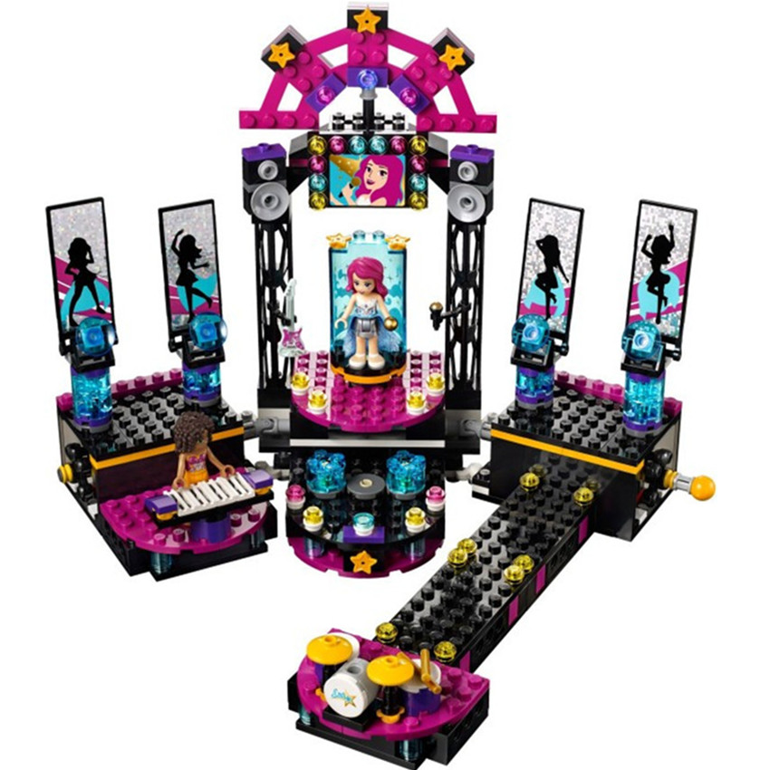 448pcs Friends Series Pop Star Music Perform Stage Model Building Blocks Assembly Girls Dream Concert Bricks Toy Gift матрасы bambola molle standart 12 119х59х12