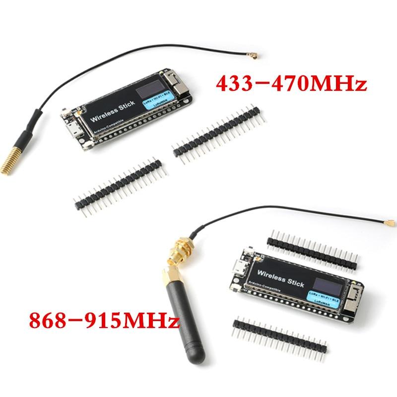 SX1276 LoRa ESP32 433/470 868/915MHz OLED Display Wireless Stick  Development Board WIFI BLE Module with Antenna for Arduino