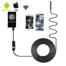 Universal WIFI Endoscope WIFI Camera 5.5mm Diameter 2.4GHZ 2MP 720P 6LED Lamp IP67 Waterproof 65 Degree Angle for Android IOS PC